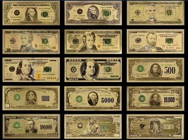 ☆MINT UNC. FULL SET☆ $1-$1B Rep.* Banknotes W/COA~STUNNINGLY Detailed W/... - $49.47