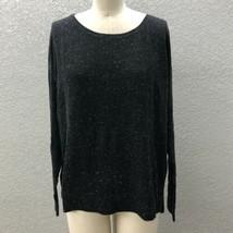 Ann Taylor LOFT Light Knit Sweater Women's L Black Sparkle Long Sleeve P... - $18.95