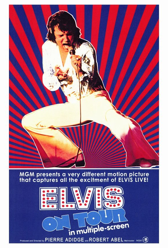 Elvis On Tour Movie Poster 27x40 inches Presley 1972 Rare Out of Print