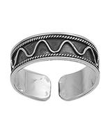 New Fancy Women's Adjustable Toe Ring In 14k White Gold Over 925 Sterlin... - $9.99