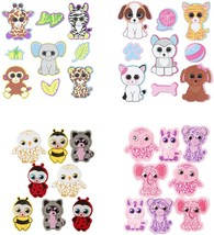 Bundle of 4 Packages Ty Beanie Boo Foam and Felt 3D Stickers 52 Stickers... - $12.86