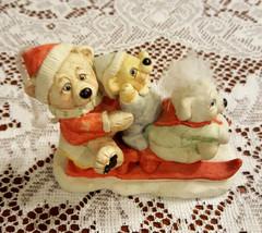 """Dreamsicles 1994 """"Three On A Sled"""" 3 Teddy Bears on a Sled Figurine  - $14.99"""