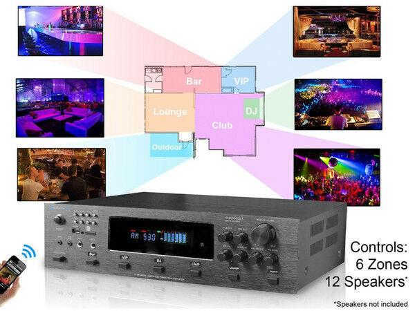 Technical Pro H12X500BT 6000w Hybrid Amplifier / Preamp/ Tuner w/ 12 Speaker