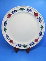 "Boch Belgium Boerenbont 12 5/8"" Round Cake Plate Chop Plate Platter EUC - $57.82"