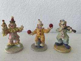 Set Of 3 Mini Clown Figurines - $9.50