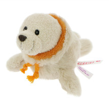 MagNICI Seal Cozylou Beige Stuffed Toy Animal Magnet in Paws 5 inches 12 cm - $11.00