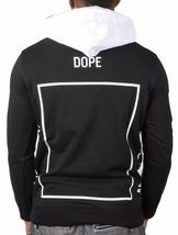 Dope Couture Blanco y Negro Bougie Tripulante Chándal Suéter con Capucha Nwt image 3