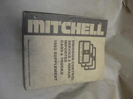 82 MITCHELL EMISSION CONTROL SERVICE & REPAIR IMPORTED CARS & TRUCKS SUP... - $8.99
