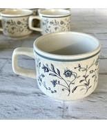 Temper Ware Tea Cup Coffee Mug Blue Breeze Vintage Made in USA 6 Oz Temperware 1 - $8.54