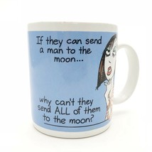 Hallmark Novelty Coffee Mug Shoebox - If They Can Send A Man To The Moon... - $4.95