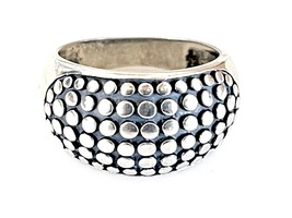 Bumpy Dome Sterling Silver Ring   Caviar Dot Bombe Band   Wide/Chunky/Big  - $35.00