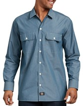 NEW Men's Dickie's Workwear Chambray Button Front Shirt Blue 15 -15 1/2 ... - $17.94