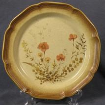 Mikasa Whole Wheat Jardiniere E8016 Dinner Plates Peach Flowers - $17.95
