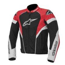 ALPINESTARS BLACK/WHITE/RED  COWHIDE MOTORCYCLE RACING LEATHER JACKET AL... - $135.00