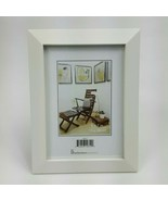"Wooden Solid White Simple Picture Frame Holds 5""x7"" Photo NWT Hang or Table - $14.01"