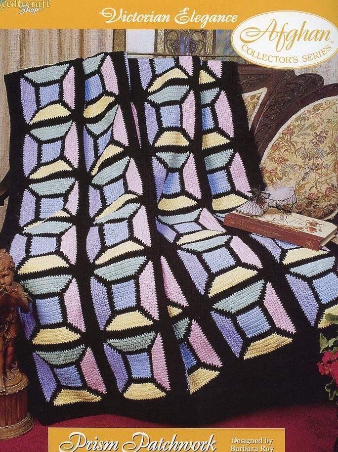 Prism Patchwork Afghan TNS Victorian Elegance Crochet PATTERN/INSTRUCTIONS