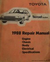 1988 Toyota Tercel Sedan Service Repair Shop Manual Set W Wiring Diagram EWD OEM - $19.70