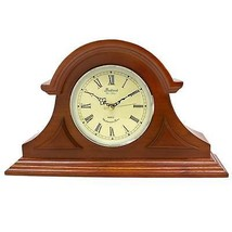 Bedford Clock Collection Mahogany Cherry Mantel Clock with Chimes - $125.00