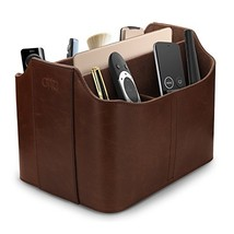 OTTO Leather Remote Control Organizer and Caddy with Tablet Slot OTTO171 - $29.59