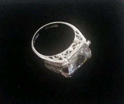Sterling 925 Silver Signed THAILAND Clear Cubic Zirconia Size 8 New - $24.74