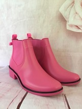 KATE SPADE SEDGEWICK RUBBER ANKLE RAIN BOOTS BRIGHT PINK BOW DETAIL SIZE 6 - $75.00