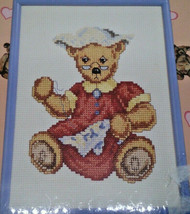 Janlynn Bear Collection Mother Sewing 105-28 Framed Counted Cross Stitch... - $18.14