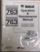 Bobcat 763 Skid Steer Operation & Maintenance Manual Operator/Owner's 2 #6900788 - $24.00