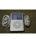 Apple iPod Classic 6th Generation Silver 80 GB MB029LL/A AAC WMA MP3 Pla... - $173.24
