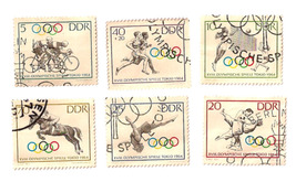 Old  German Olympic Stamps - Tokyo 1964 - $6.50