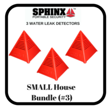 3 SPHINX Small House Basement & Whole House Water Sensor and Alarms - $28.70