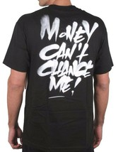 DISSIZIT Men's Black Same $hit Nicer Bags Graphic Tee Money Can't Change Me NWT image 2