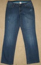 Kohl's Sonoma Stretch Denim Distressed J EAN S Modern Fit Straight Size 6 Euc - $12.86