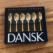 Dansk Demitasse Spoon Set Gold Plated Party Hostess Flatware Silverware ... - $51.31