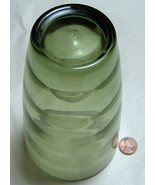 "VTG HAZEL ATLAS 6 5/8"" REPLACEMENT GREEN RIBBED WATER SODA DRINK GLASS C... - $18.64"