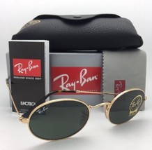New RAY-BAN Sunglasses RB 3547-N 001 51-21 145 Gold Frames G-15 Green Glass Lens