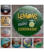 Lates antique retro metal tin signs bbq pizza lemonade love sweet iron painting poster thumbtall