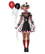 Californie Déguisement Tordu Clown Cirque Adulte Femmes Halloween 01435 - $40.44