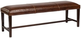 Bench Weston 60-Inch Leather Antique Saddle Dark Walnut - £500.18 GBP