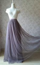 Maxi Full Tulle Skirt High Waisted Floor Length Tulle Skirt Wedding Tulle Skirt  image 1