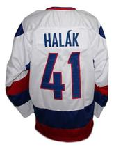 Jaroslav Halak Team Slovakia Retro Hockey Jersey New White Any Size image 2