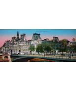 PARIS in 1900s Beautiful Chromotype Photo - Hotel de Ville Town Hall - $19.80
