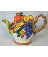 Fitz & Floyd Garden Harvest Teapot - $50.38