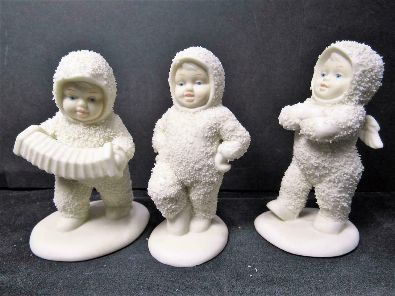 "Primary image for ""DANCING TO A TUNE 6808-0"" SET OF 3 Dept 56 D56 Snowbabies CHRISTMAS FIGURINE"