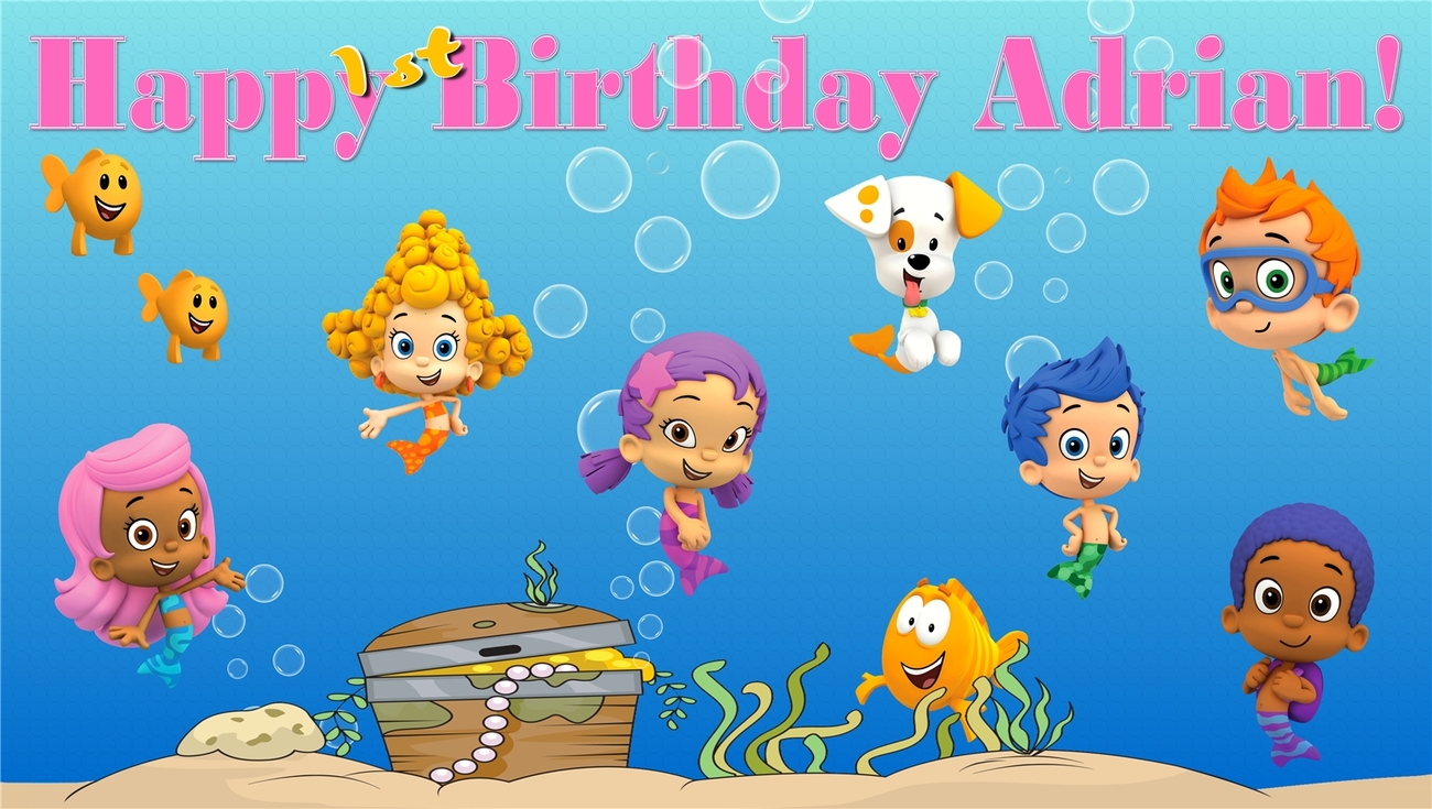 bubble guppies custom personalized vinyl and 50 similar items