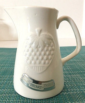 Vtg GEORGES BRIARD Creamer Cream Pitcher Ivory White Ceramic Original La... - $5.99