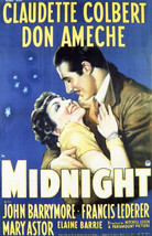 Claudette Colbert and Don Ameche in Midnight 16x20 Canvas Giclee - $69.99