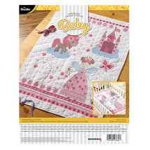 "Fairytale Princess Crib Cover Stamped Cross Stitch Kit New Bucilla 34"" x 43"" - $69.29"