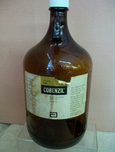 Cobenzil Cougn Syrup 1 Gallon Ambre  Glass Pharmacy Bottle 1930s - $50.00