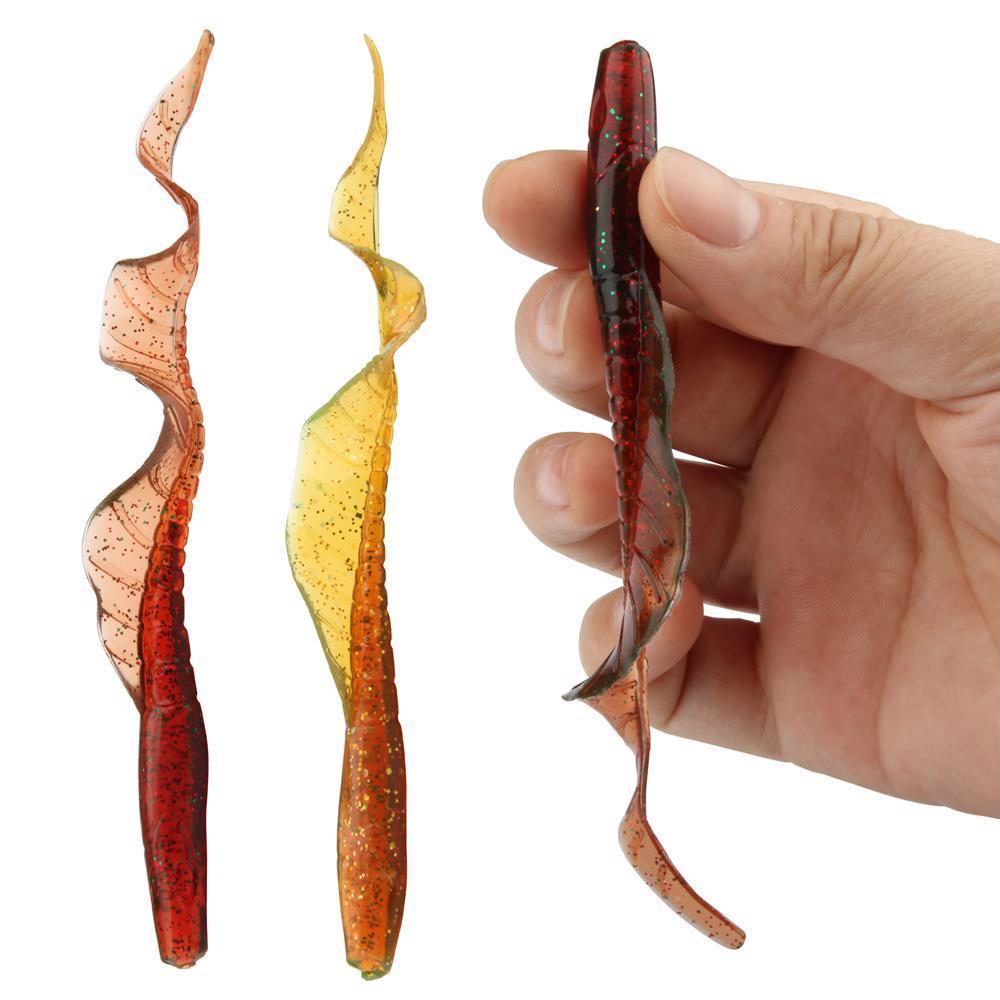 10pcs/Lot Classic Soft Lure 13cm 5-Inch Swimbaits Artificial Bait Silicone Worms