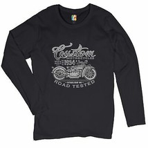 Custom Motorcycles Road Tested Women's Long Sleeve T-shirt Bobber Biker ... - $14.85+